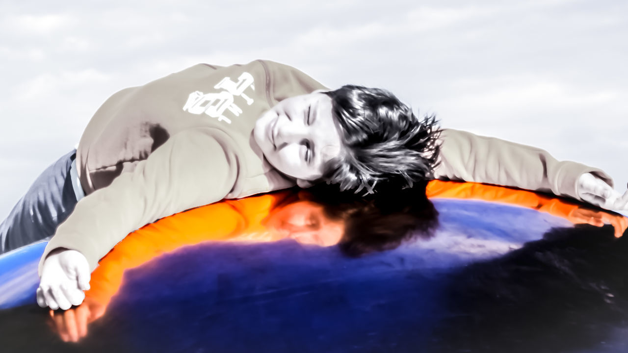 Check This Out Children Close-up Creative Creativity Day Dreaming Enjoying The Sun EyeEm Gallery Human Body Part Long Hair My Son Outdoors People Portrait Refections Reflection On Glass Reflection On Metal Sky Sleeping Sports Clothing Two Tones Young Men