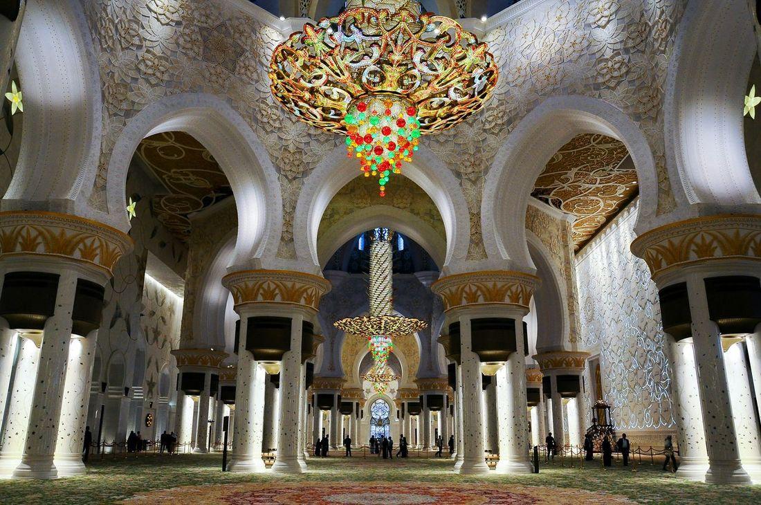Inside the Grand Mosque. Grandmosque Abudhabi Thegrandmosque