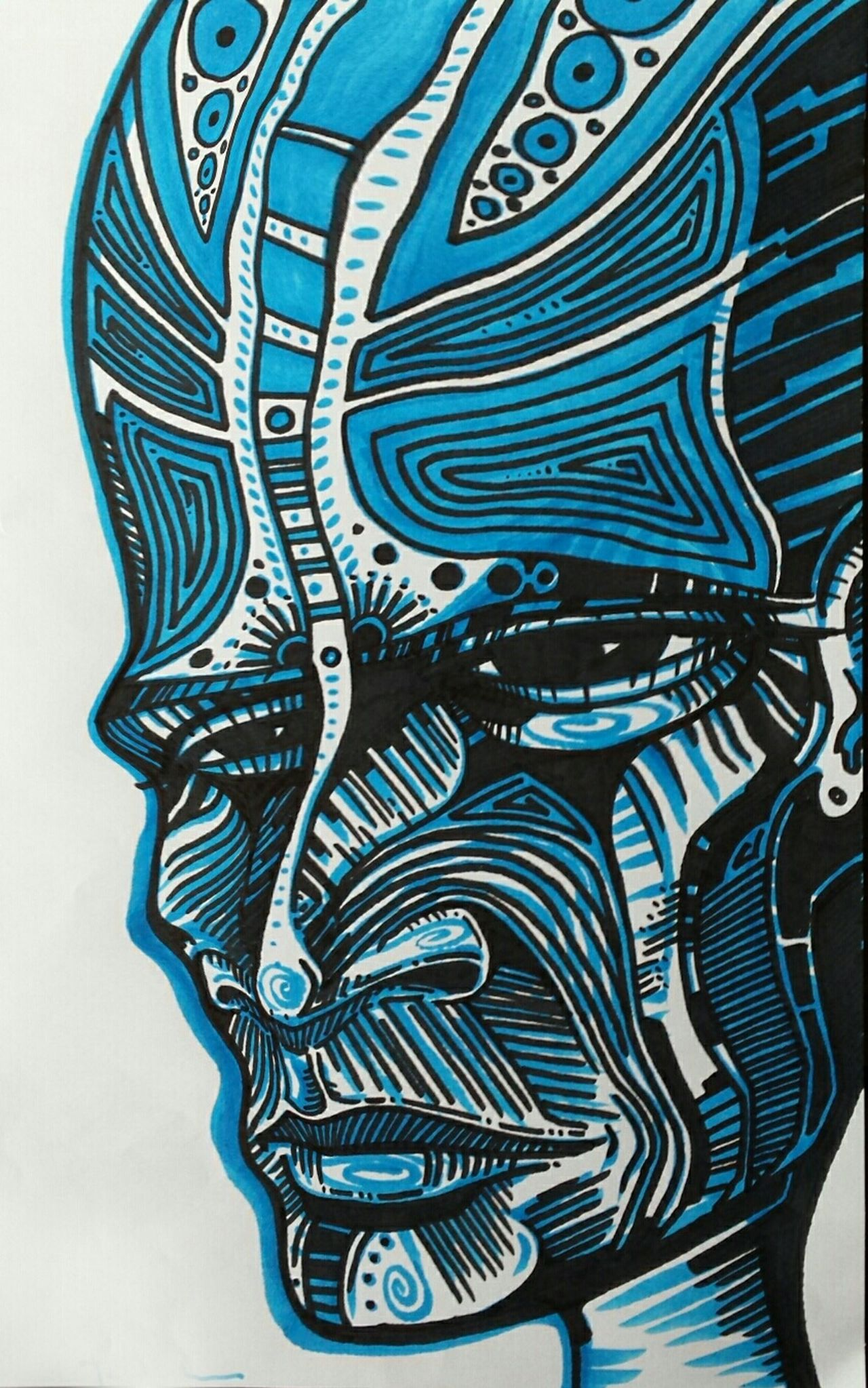 I am unsure from whence these faces come, except that my heart uses the mind like a tool. Drawing Ink Drawing Ultraterrestrial Art Portrait Art, Drawing, Creativity