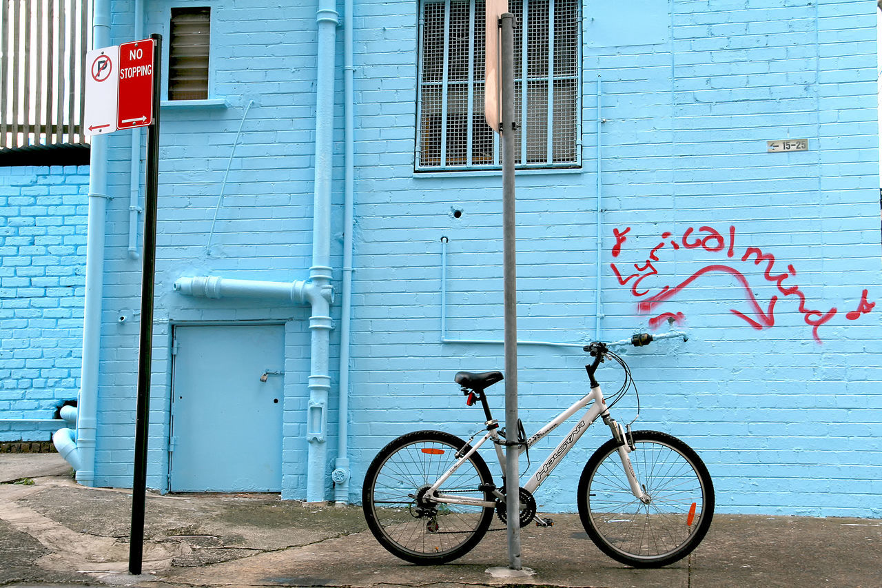 building exterior, built structure, architecture, day, bicycle, outdoors, no people, corrugated iron