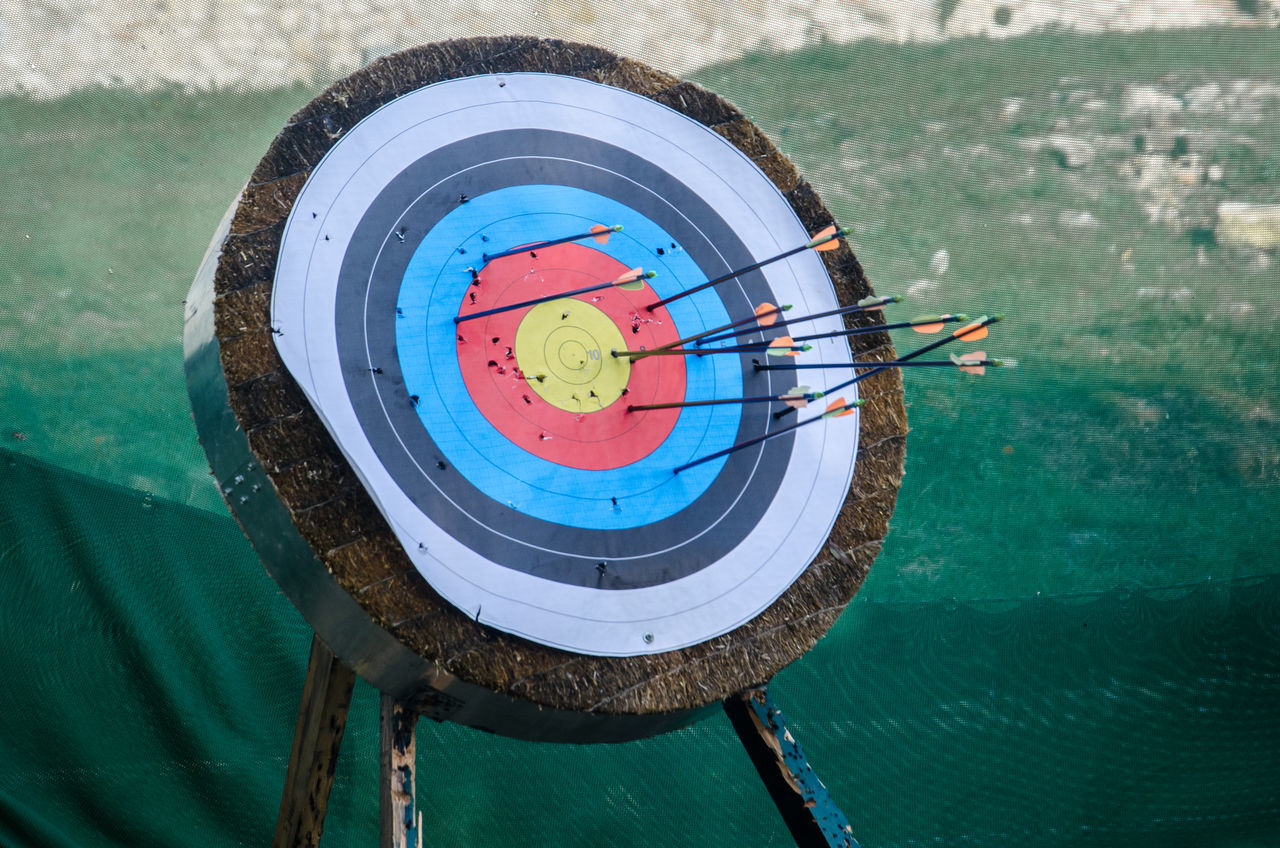 Accuracy Aim Aiming Archery Bullseye Close-up Competition Concentric Darts Darts Bar Day Indians  No People Outdoors Sport Sports Event  Sports Target Target Target Shooting Arrow Arrows Robin Hood Center In The Center