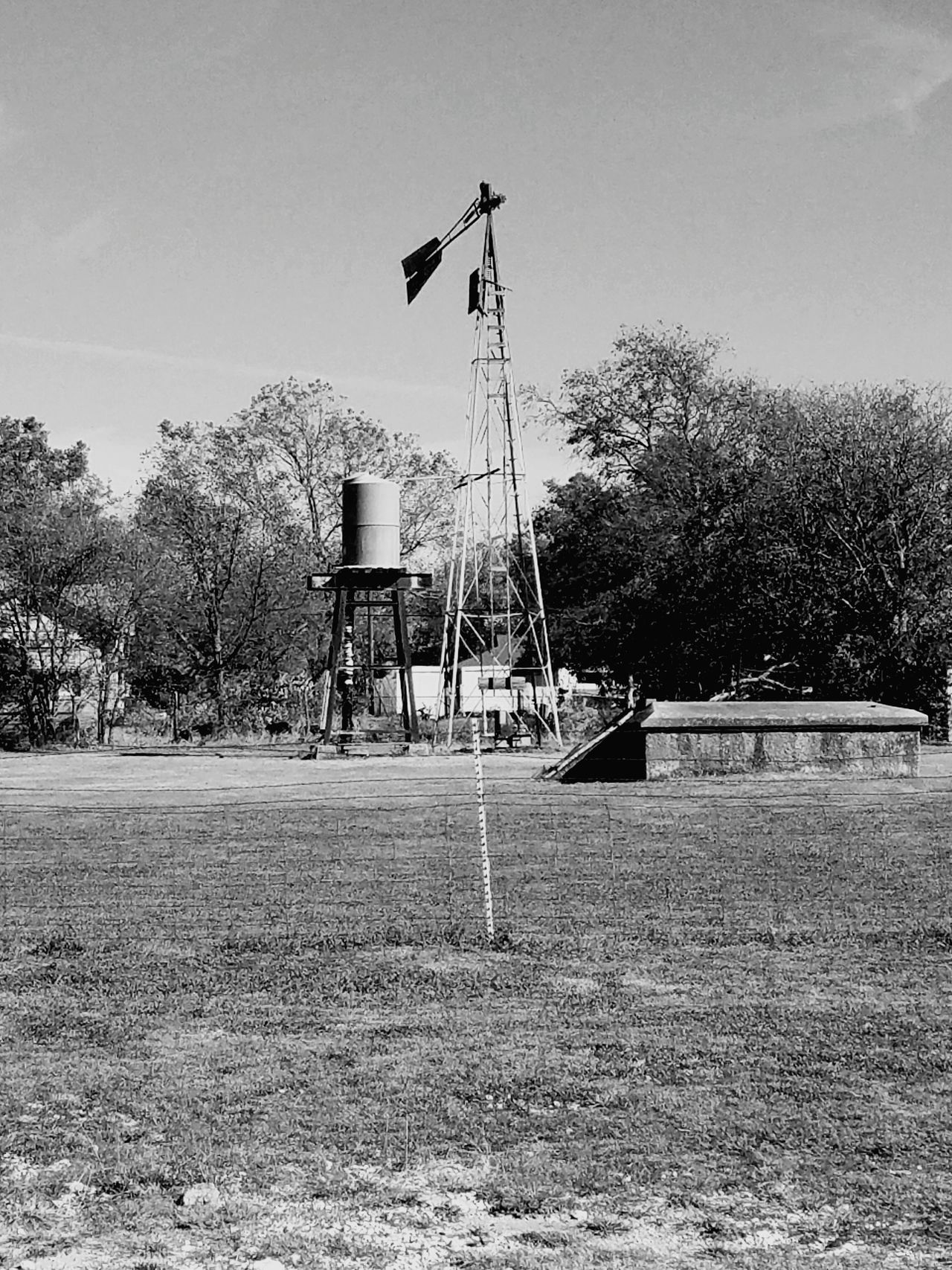 Sky No People Outdoors Nature Day Antenna - Aerial Black And White Photography Farm Watertank Tree Landscape_photography Cloud - Sky Structure And Nature Ruralphotography Ruralscape