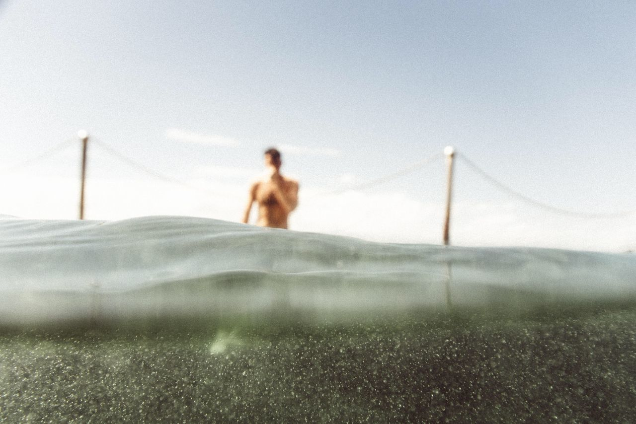 Beautiful stock photos of ocean, Day, Defocused, One Man Only, One Person