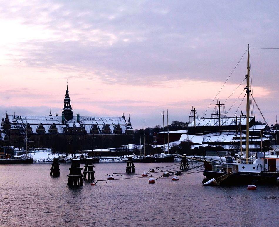Twilight Nybroviken Djurgården Nordic Museum Stockholm Sweden EyeEm Best Shots EyeEm Gallery EyeEm Boats Traveling