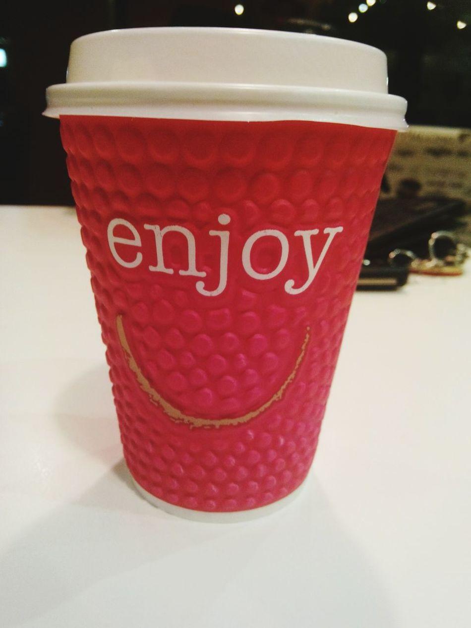 DrinkCoffee Enjoying Life Enjoy Drinking Coffee Cup Of Joy ⛅☕