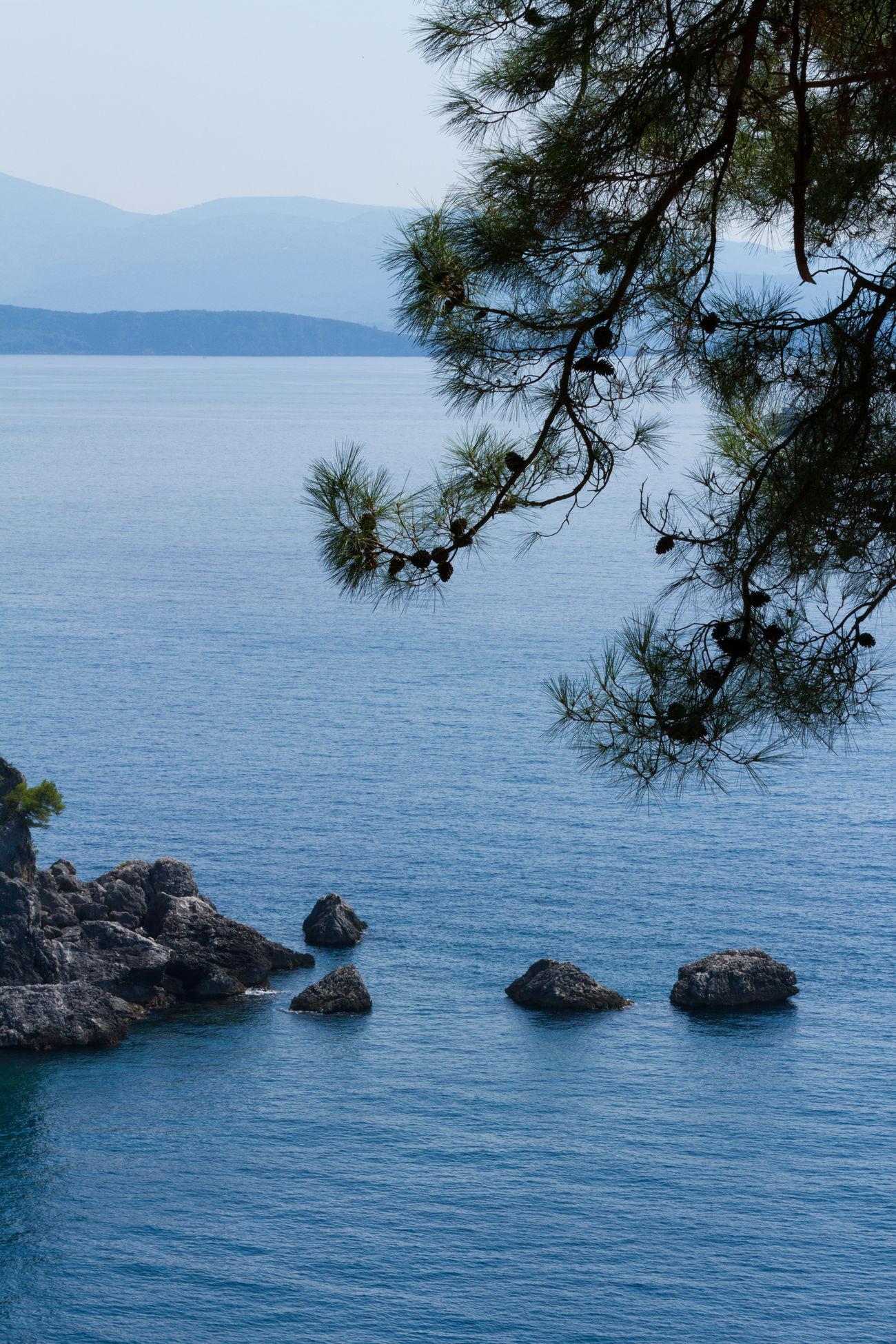 Coast Greece Holiday Portrait Sea Seascape