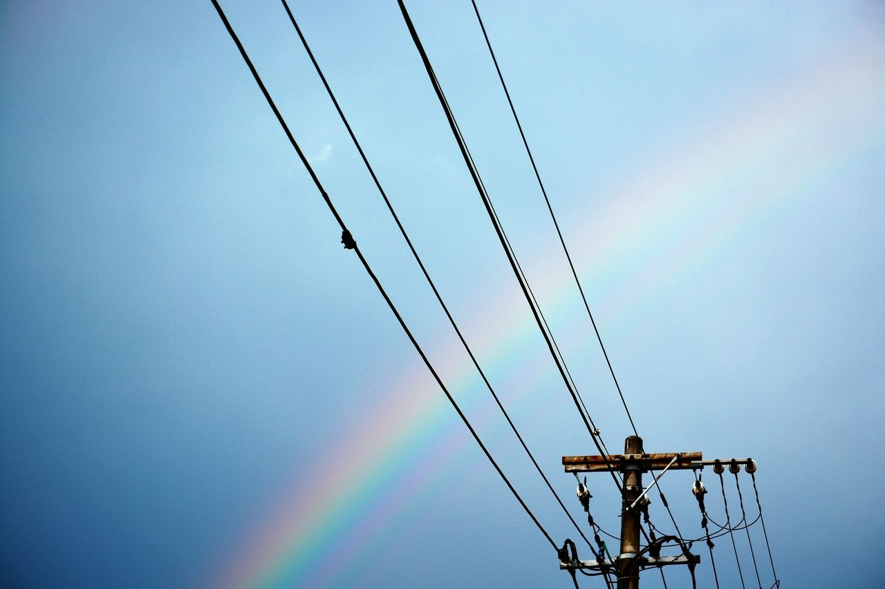 Beautiful stock photos of rainbow, Blue, Day, Low Angle View, No People