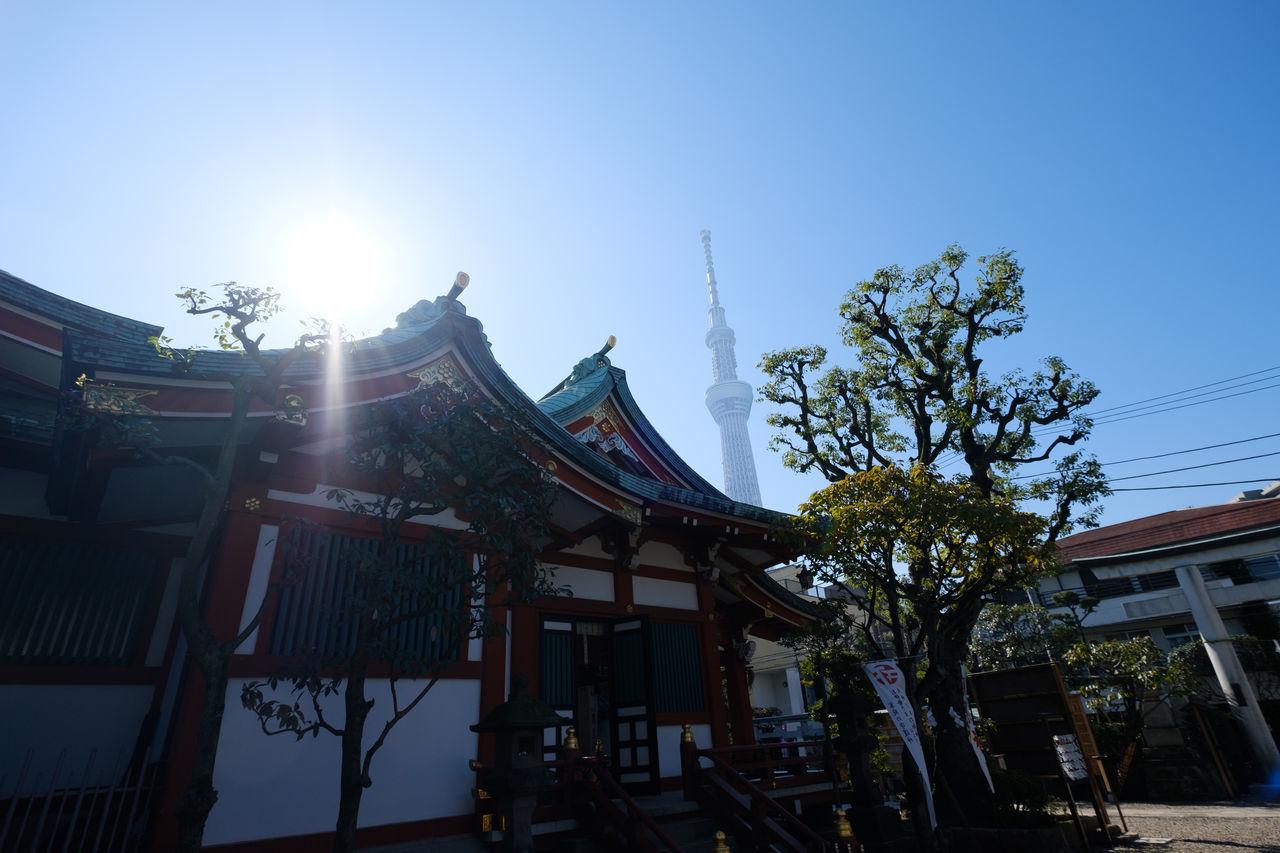 高木神社 Architecture Clear Sky Day Fujifilm FUJIFILM X-T2 Fujifilm_xseries Japan Japan Photography Shrine Sky Skytree Tokyo Travel Destinations X-t2 スカイツリー 東京 神社