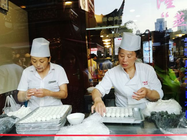 People And Places Working Hands Restaurant Food On The Go Reflection Shanghai