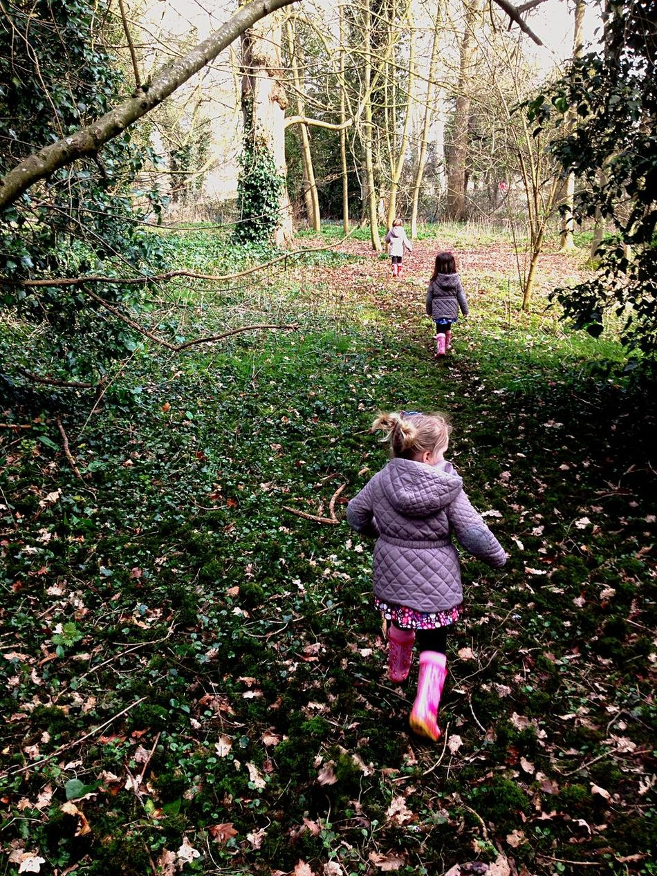 Triplets trip trapping through the woods Triplets Walking Through The Woods My Daughters ❤️