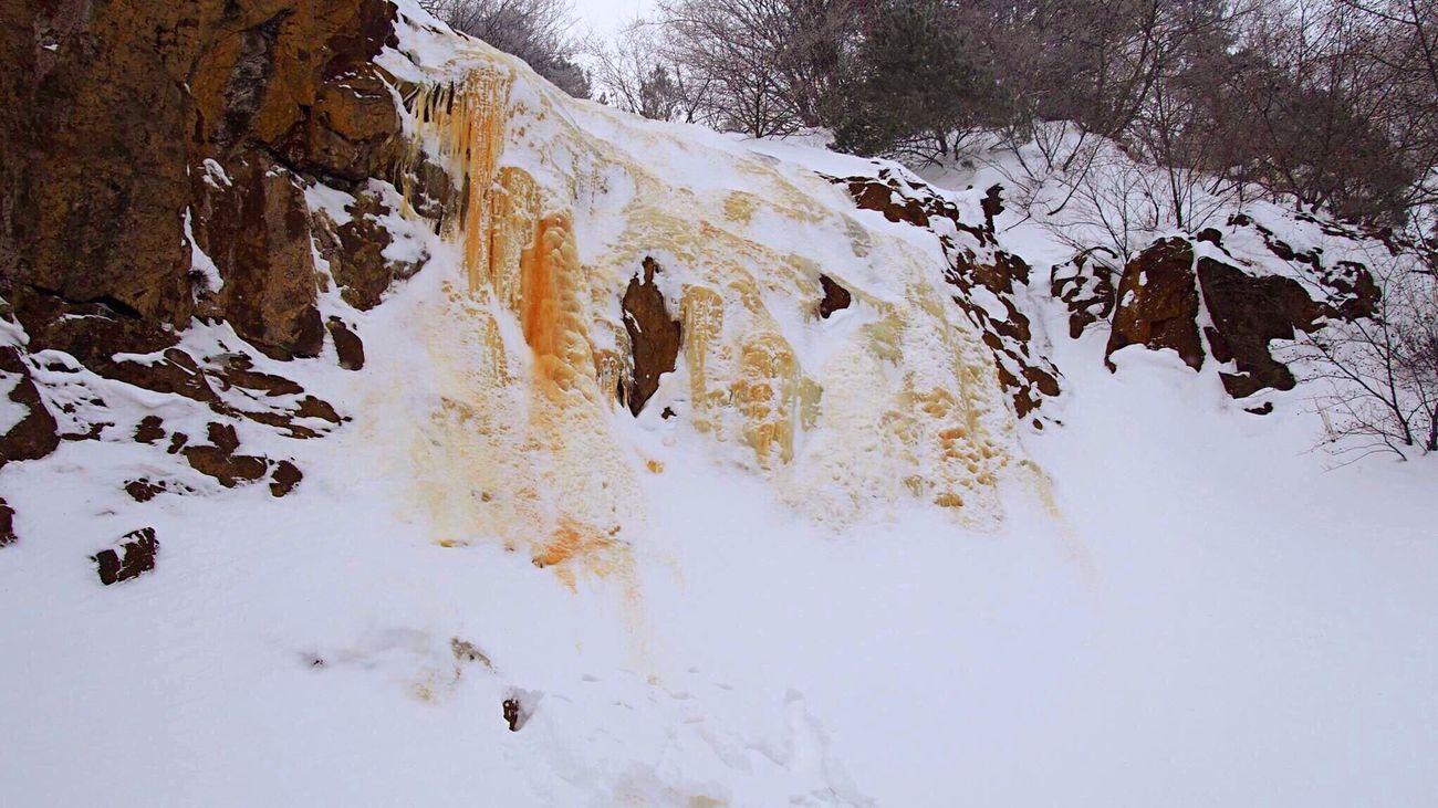 Yellowfall Urabandai FUKUSHIMA Tohoku Japan Yellow Icefall Frozen Waterfall Frozen Nature Winter Snow Snowshoeing Wonderful Nature It's Cold Outside Ultimate Japan Wintertime My Winter Favorites スノーシュー Mt.Bandai 磐梯山 福島県 氷瀑 東北 裏磐梯 イエローフォール