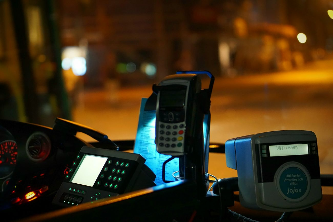 Technology Communication Connection Illuminated Wireless Technology Device Screen Pay Phone Telephone Booth Vehicle Interior Close-up Focus On Foreground Transportation Keypad Telecommunications Equipment Telephone Receiver Telephone Street Portability Meter - Instrument Of Measurement Control Skånetrafiken Transportation City Bus Streetphotography City Life