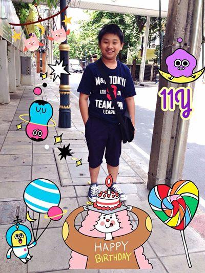 HappyBirthdayMyBoy 01AUG15 หม่ามี้ขอให้นู๋มีความสุขมากๆ เป็นเด็กดี ตั้งใจเรียน คิดดีทำดีนะครับ LoveUAlways💋
