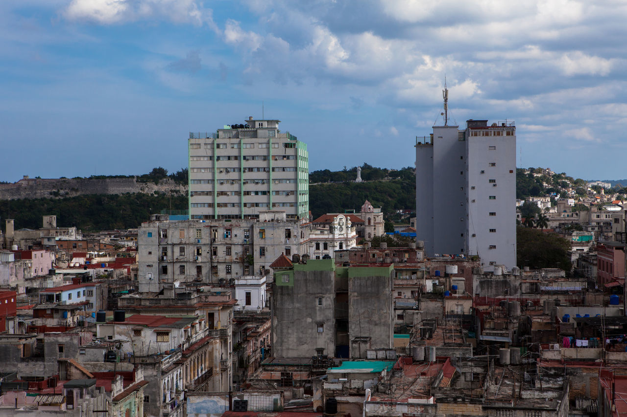 Cityscape of Havana city. Arial Shot Arial View Building Exterior Built Structure City City Life Cityscape Cityscapes Cuba Havana Havana Cuba Old Buildings Residential Building Residential District Sky And Clouds Town TOWNSCAPE Travel Travel Destinations