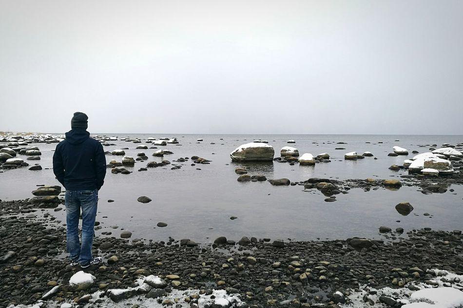 Rocks Coastline Sea Snow Rocks In The Sea Winter Seaside Snowy Rocks Snowy Nature Calm Sea Calming View