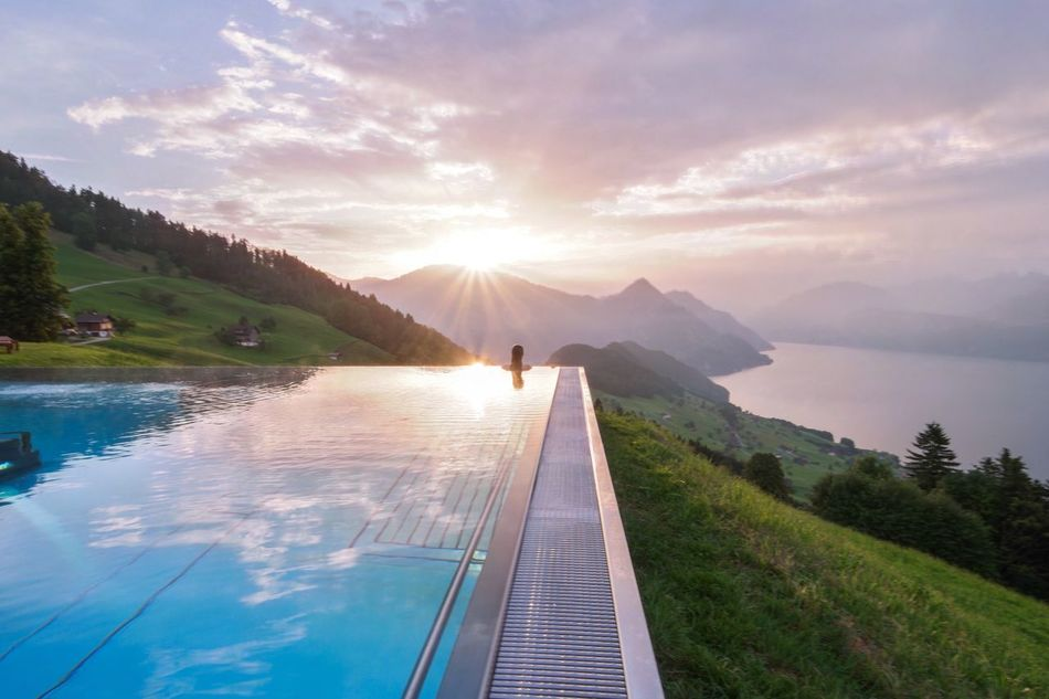 43 Golden Moments Summer Nature Landscape Adventure Self Portrait Travel Symmetry Sunrise Mountains Switzerland Pool Infinity A Bird's Eye View