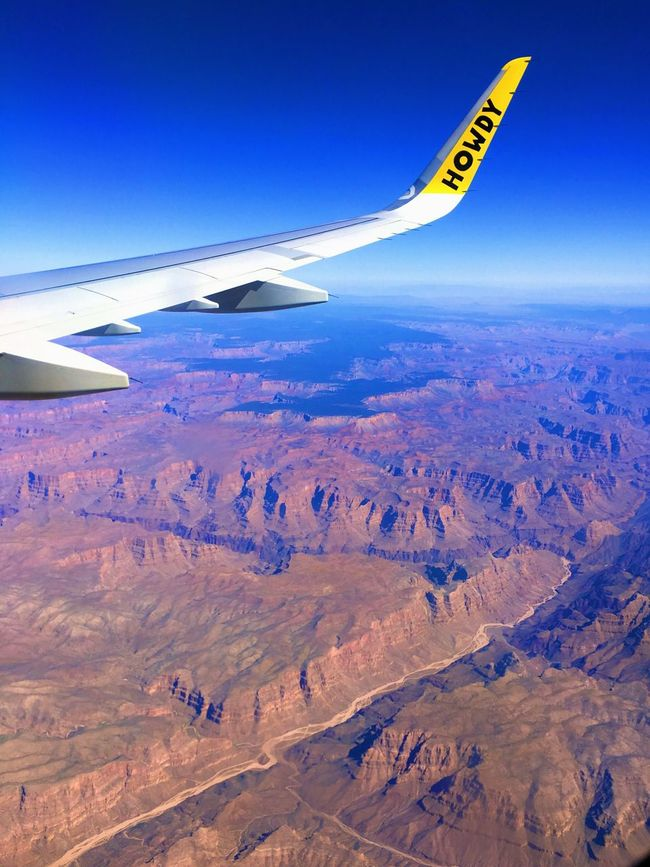 Las Vegas Howdy Desert Airplane Beautiful