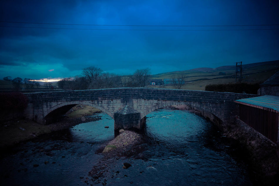 Architecture Bridge - Man Made Structure Built Structure Connection Day Landscape Mountain Nature No People Outdoors Pen-y-ghent River Sky Three Peaks Tree Water Yorkshire Dales Yorkshire Three Peaks