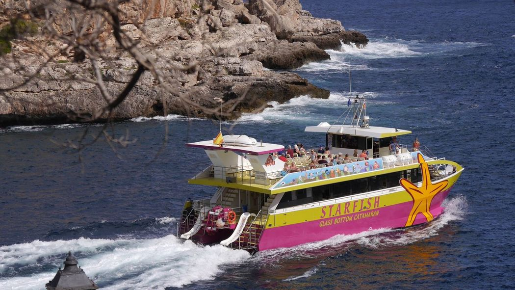 Cala Figuera Mallorca Mediterranean Sea Ships⚓️⛵️🚢 Glass Bottom Boat