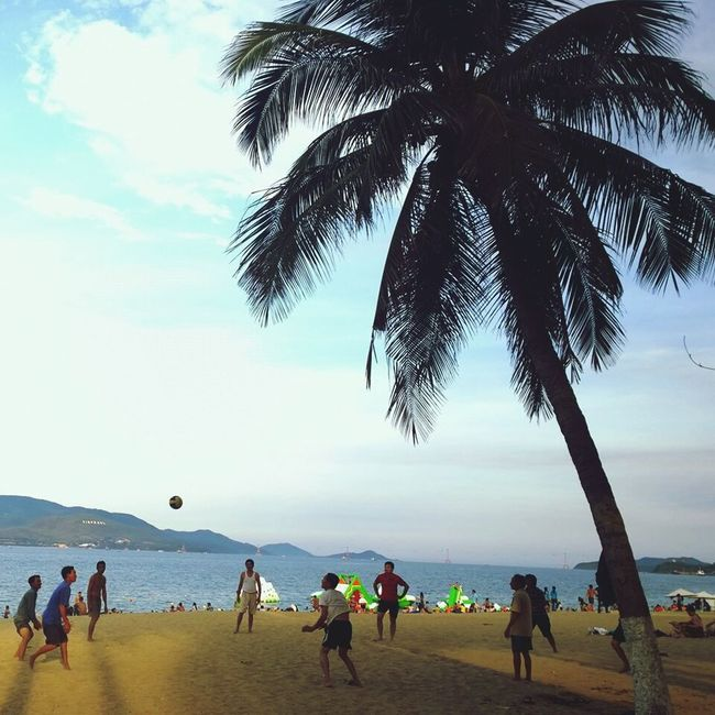 Relaxing NhaTrang Vietnam's Beach
