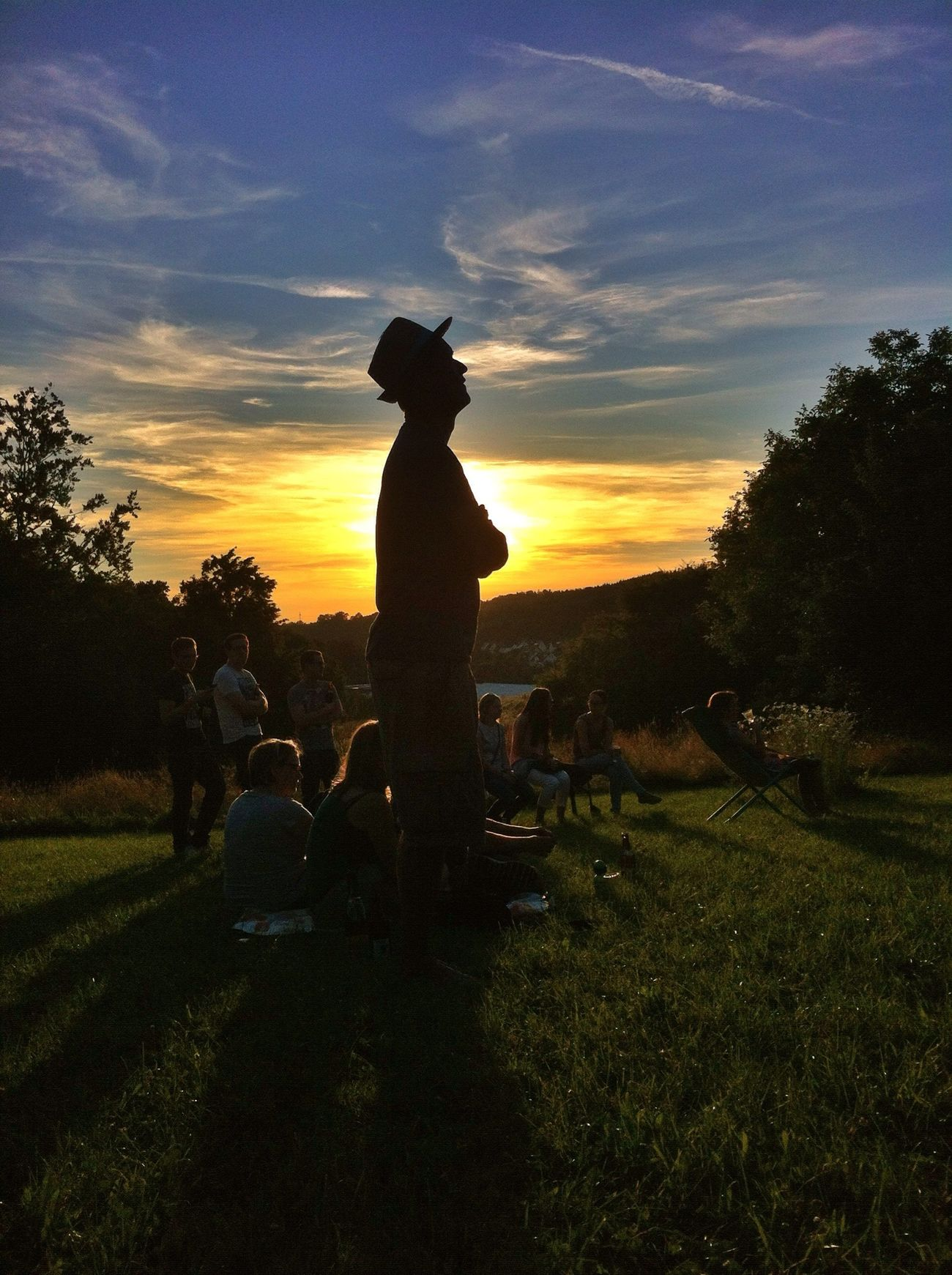 Sunset Sunset Silhouettes Open Air Life Music in the Evening Evening Sky Event Listening To Music Listening Silhouette