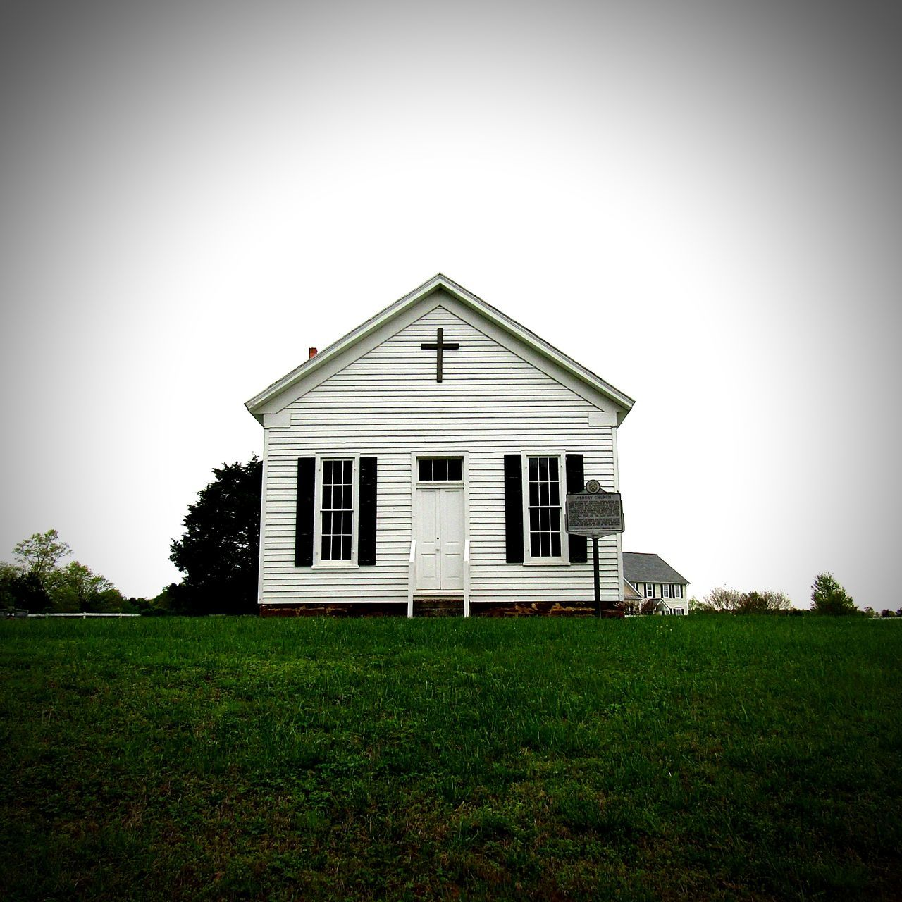 No People Grass Church Virginia Historic Historical Building Historic Church Built Structure Building Exterior Peace And Quiet Cross Backroads