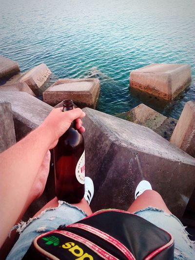 Beer Looking The Sea Relax