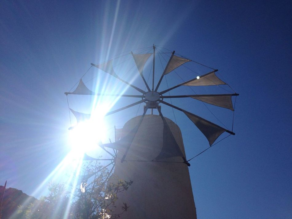 Sunlight Clear Sky Windmill Crete Crete Greece Peace And Quiet Architecture Sun Enjoying The View Travel Destinations My Point Of View