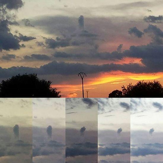 Ver UN Cohete De Nube Es Lo Que Tiene Ver Atardecer En El Canpo De Cedillodelcondado Samuelada