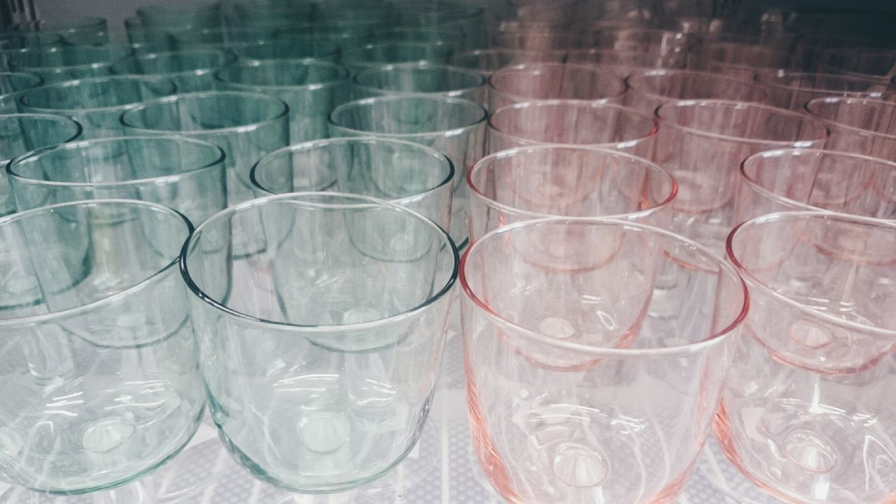 Indoors  No People Drinking Glass Close-up Crowd Glasses Pastels Mintgreen Mint Mints Pink Pink Color Pink And Green Taking Photos Refreshment
