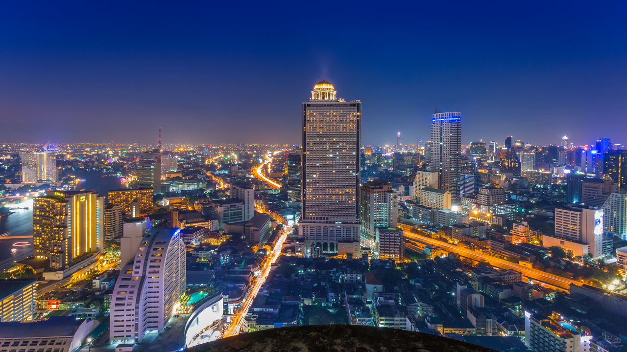illuminated, architecture, city, night, cityscape, building exterior, built structure, skyscraper, travel destinations, tower, modern, no people, outdoors, sky
