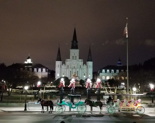 St. Louis Cathedral Historical Monuments Jackson Square NOLA New Orleans NightsInNOLA NolaLove St. Louis Cathedral Beautiful Destinations Tourism Travel Destinations First Eyeem Photo
