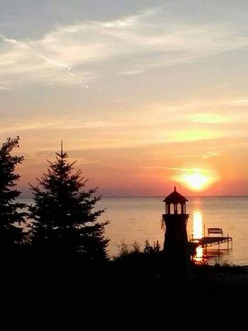 Door County Sunset Sunset #sun #clouds #skylovers #sky #nature #beautifulinnature #naturalbeauty #photography #landscape WisconsinSunset