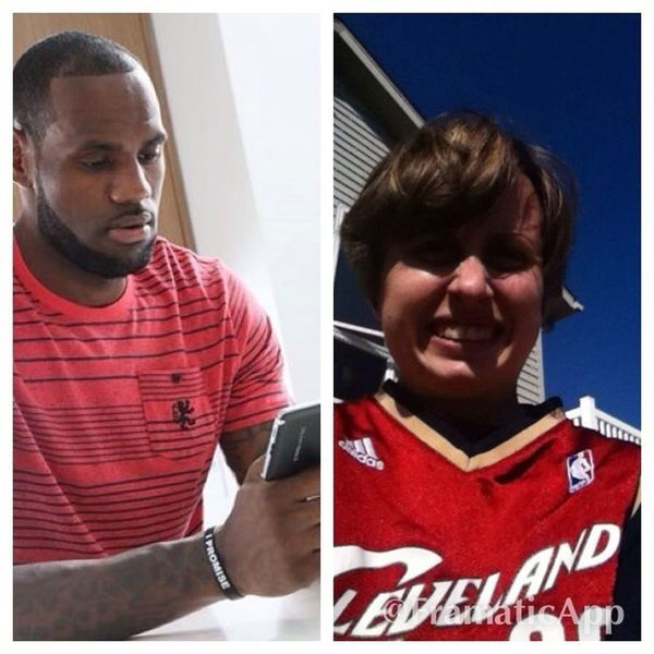 This is a pic of Lebron James and me ha