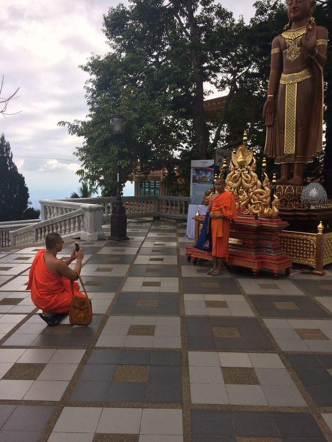 Monk posing at Wat Phratat Doi Suthep Buddhism Chiang Mai | Thailand Monk  Photography Place Of Worship Real People Religion Spirituality Wat Phrathat Doi