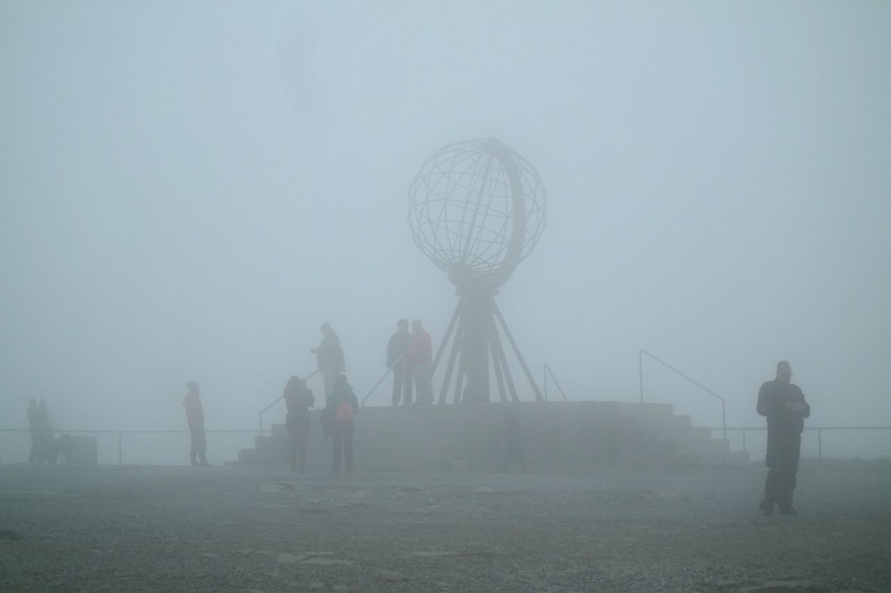 Fog Sky Ghostly Nordkapp Misty Landscape EyeEmNewHere Travel Destinations Norge🇳🇴 Norway🇳🇴 Foggyweather Outdoors People Enjoying Life