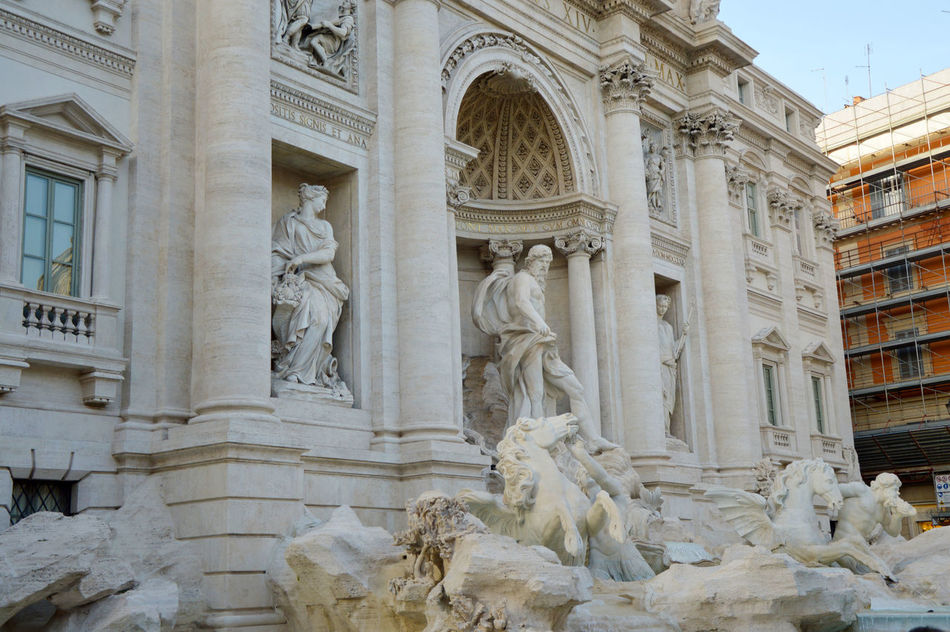 Amazing Trevi Amazing Trevi Fountain Architecture Barocco Baroche Day Detail Trevi Europe Europe Trip Fontana Di Trevi Fontana Di Trevi Rome Italia Italian Italianeography Italy Italy❤️ Italy🇮🇹 Neoclassical Architecture No People Outdoors Rome Trevi Statue Trevi Fountain TreviFountain White Statue EyeEmNewHere