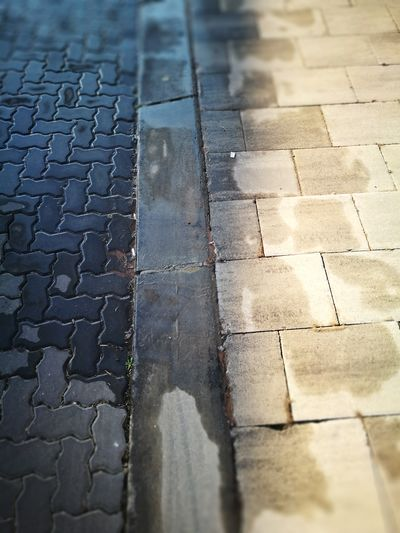 Outdoors Wet Paving Stones