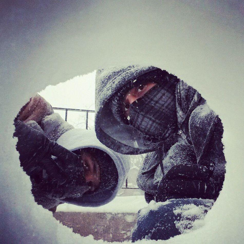 SnowTunnel Selftimer Snow Winters 2K15 Feburary Blizzard