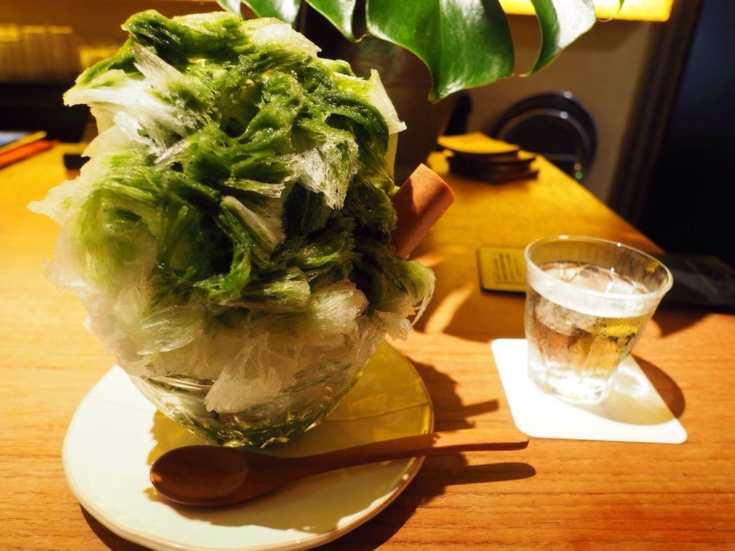 Kyoto Japan Gion Niti Shaved Ice Refreshment Indoors  Food Day Delicious PEN-F 京都 日本 祇園