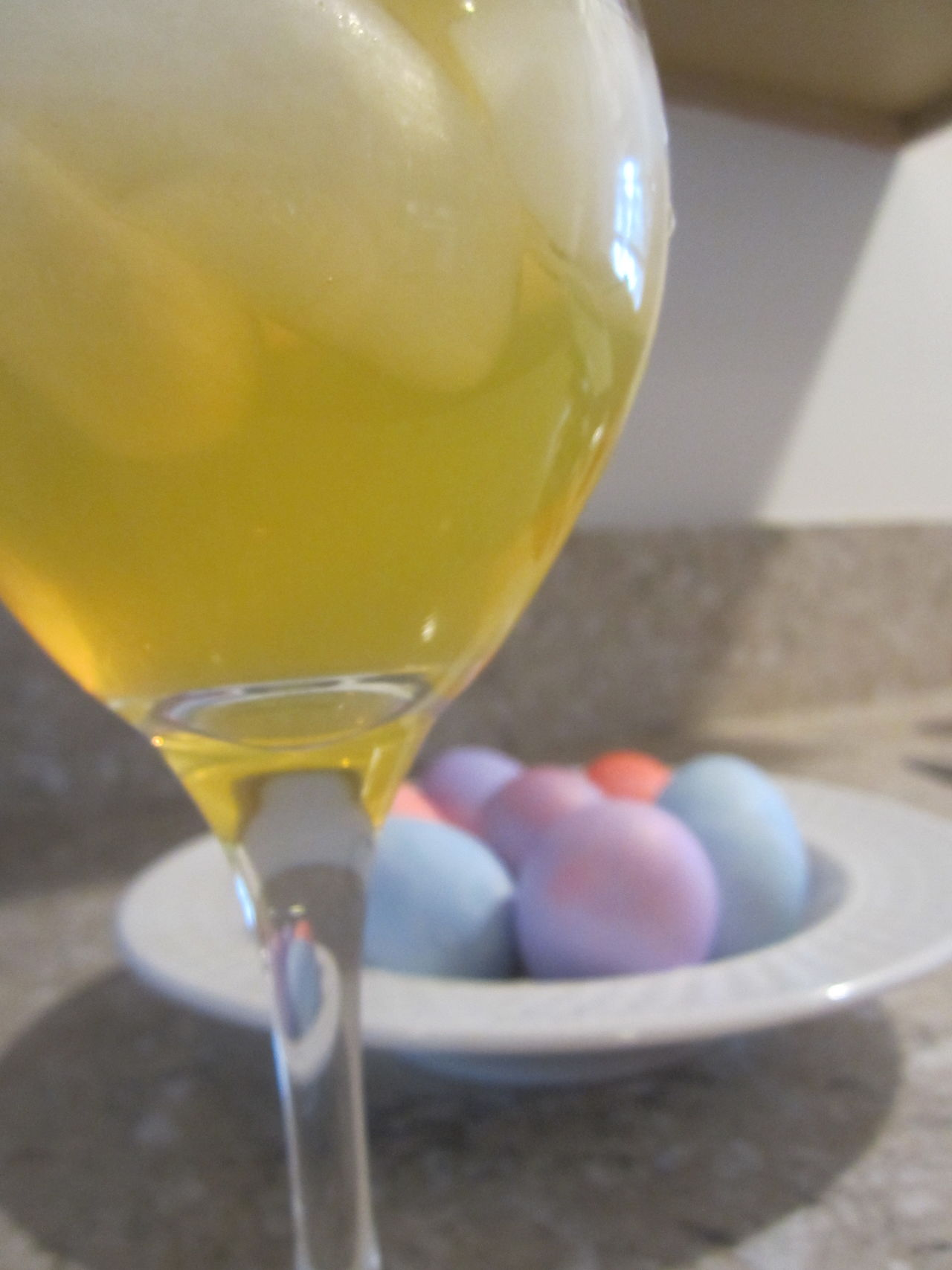 Beverage Close-up Cocktail Colored Eggs Colorful Easter Eggs Easter Ready Focus On Foreground Freshness Ice Cubes Mimosa Refreshment Selective Focus
