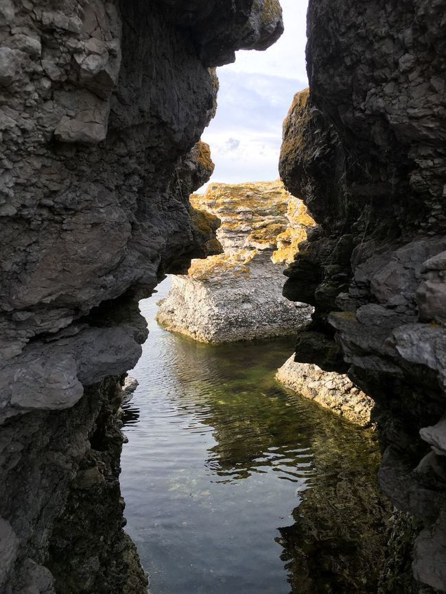 Water Rock Formation Rock - Object Geology Scenics Tranquil Scene Nature Tranquility Beauty In Nature Purist No Edit No Filter EyeEm Best Shots My Photography Sweden Baltic Sea EyeEmBestPics Östersjön Rock Formation Rugged Waterfront Sea Eroded Outdoors Cloud - Sky Day Flowing