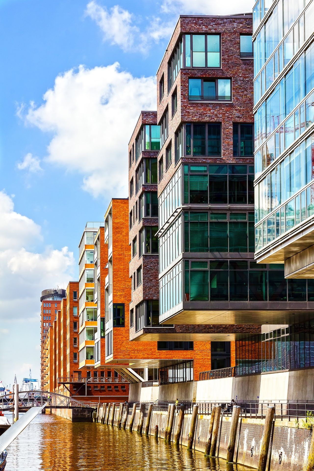 Apartment Buildings overlooking the Canal in the Warehouse district of Hamburg Germany . Urban Spring Fever Architecture Street Photography EyeEm Best Shots Canon http://www.pitcrewproductions.com The Architect - 2017 EyeEm Awards