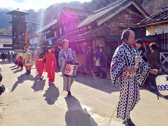 Glitch Nikko Edomura Edo Wonderland The Edo Period Japan Photography Japan EyeEm Japan Check This Out The parade is coming!!!! it took less than a minute for me to take the picture because of the freezing air,BUT.... Voila!!!! Nice capture Profesional Photographer EyeEm Best Shots Up Close Street Photography Ultimate Japan People Together