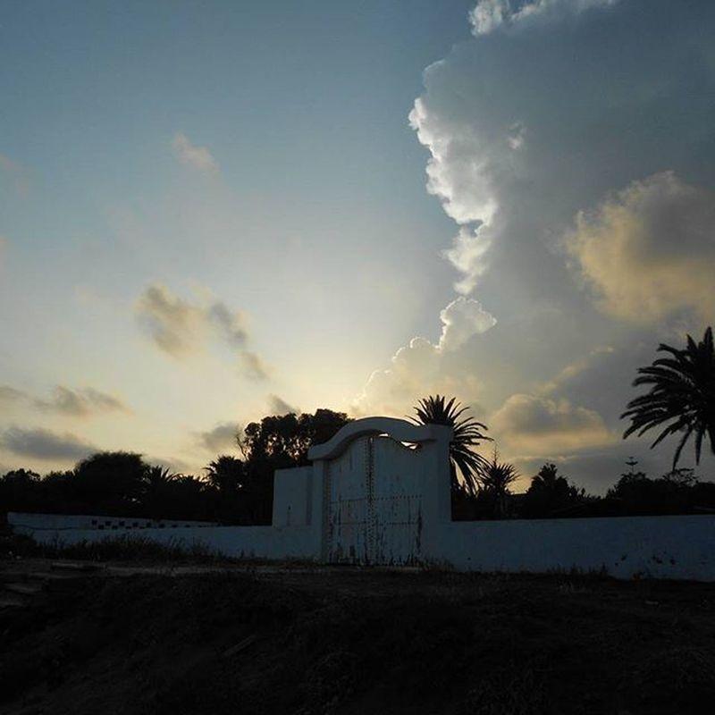 Sonnenuntergang Strand Tunesien Hammamet Sommerferien August 2015