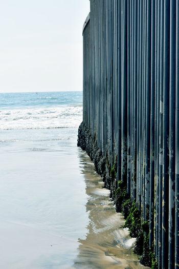 Mexico Sea Wall Tijuana Architecture Border Borderline Day Horizon Horizon Over Water Metal Wall Nature No People Ocean Pacific Outdoors Sand Sea Sky Watter