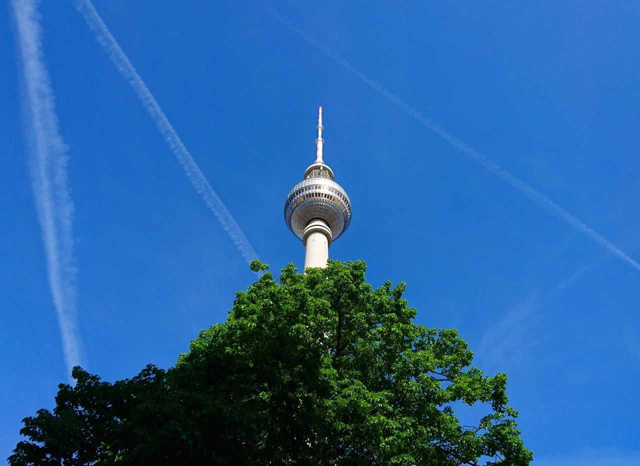 Architecture Communication Travel Destinations Blue Low Angle View Sky Clear Sky City Outdoors Berlin Architecture Berlin Style Summer Time  Summer Vibes Summer Views Alexanderplatz Alex Tower