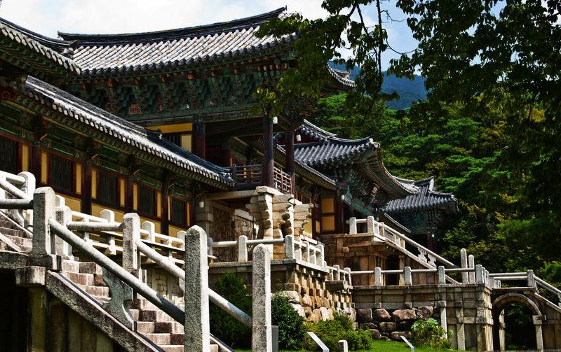 Architecture Bulgusa Gyeongju Place Of Worship Religion South Korea Temple Tourist Attraction  Tranquility World Heritage