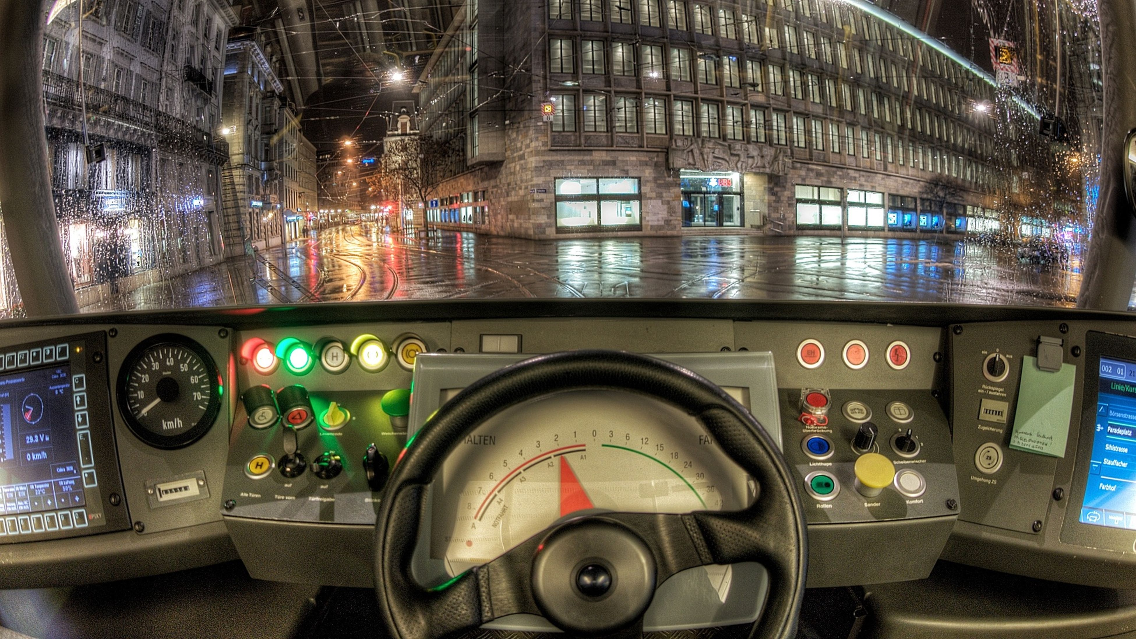 land vehicle, transportation, mode of transport, car, indoors, vehicle interior, retro styled, technology, stationary, old-fashioned, window, illuminated, communication, parked, parking, motorcycle, glass - material, bus, no people, travel