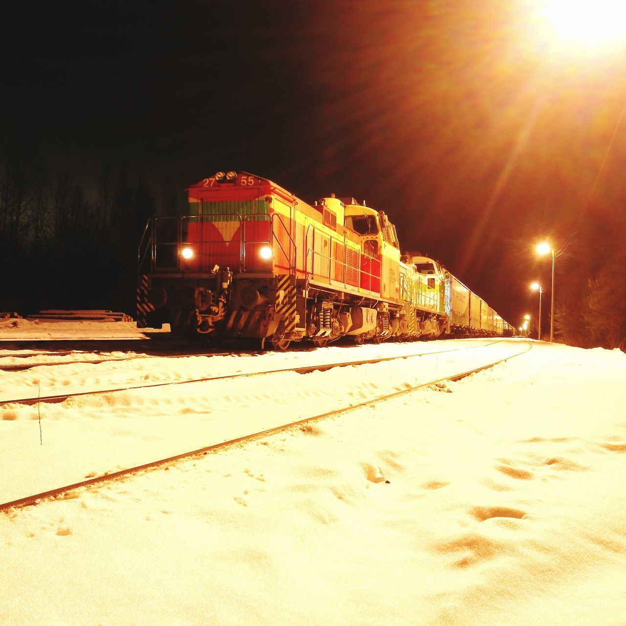 Ready to go home.Winter Snow No People Huawei P9 Leica Nofilternoedit Train - Vehicle Night Finland EyEmNewHere